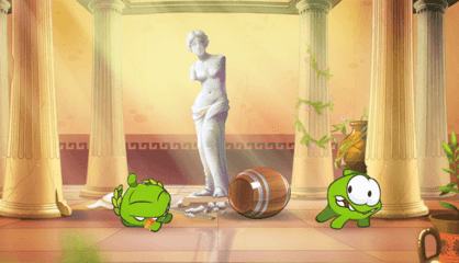 OM Nom Stories: Time Travel - Ancient Greece (Episode 16, Cut the Rope: Time Travel)